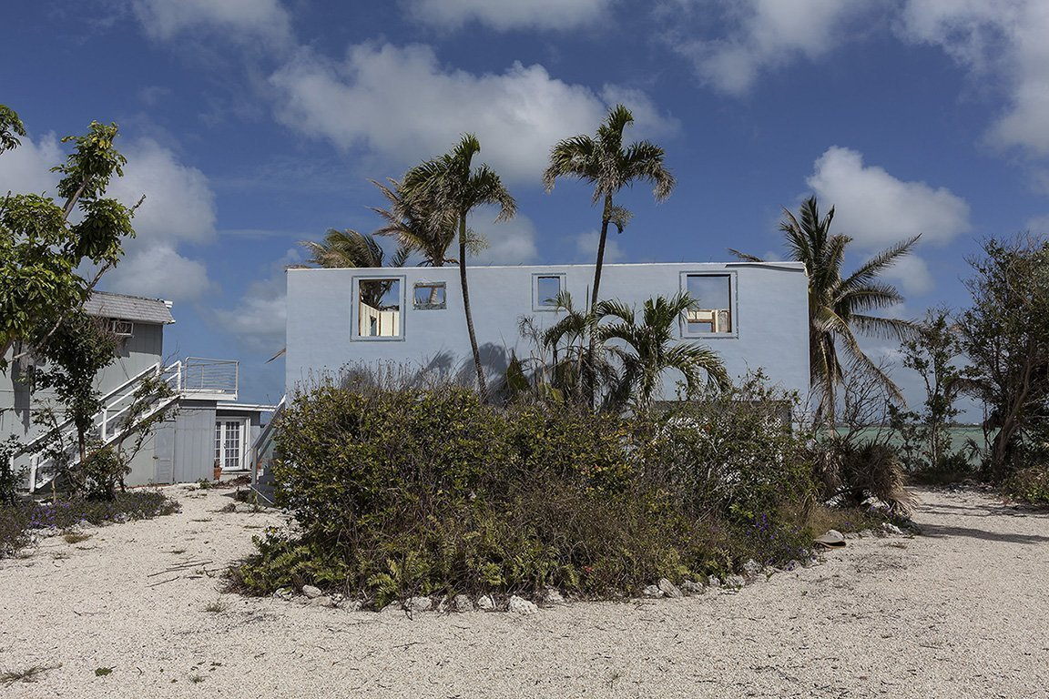 Beach House Totaled by Hurricane Irma, Boulder Drive, Bay Point Key, Florida, 2018         	Elevation Six Feet. N 24.62450 W 81.59118