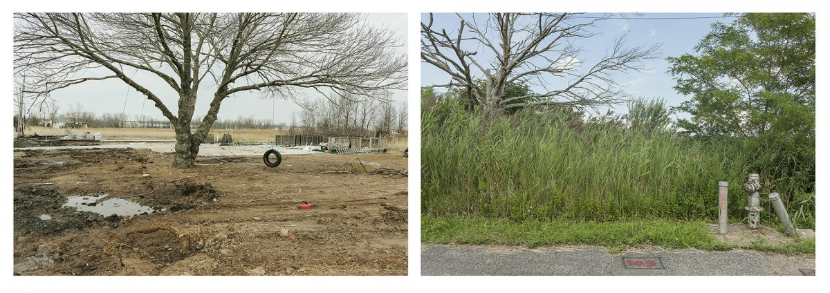 Site of 103 Kissam Avenue, Destroyed by Hurricane Sandy, Bought-Out by the City of New York, Staten Island, March 2013 and August 2019.