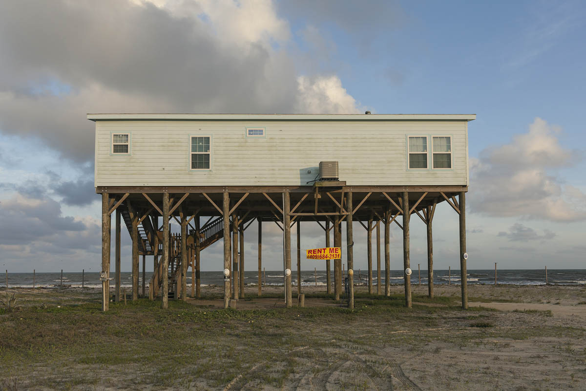 """Ocean Front Paradise"" Rental, TX 87, Bolivar Peninsula, Texas, 2014. Elevation Three Feet. N 29.53893 W 94.41699."