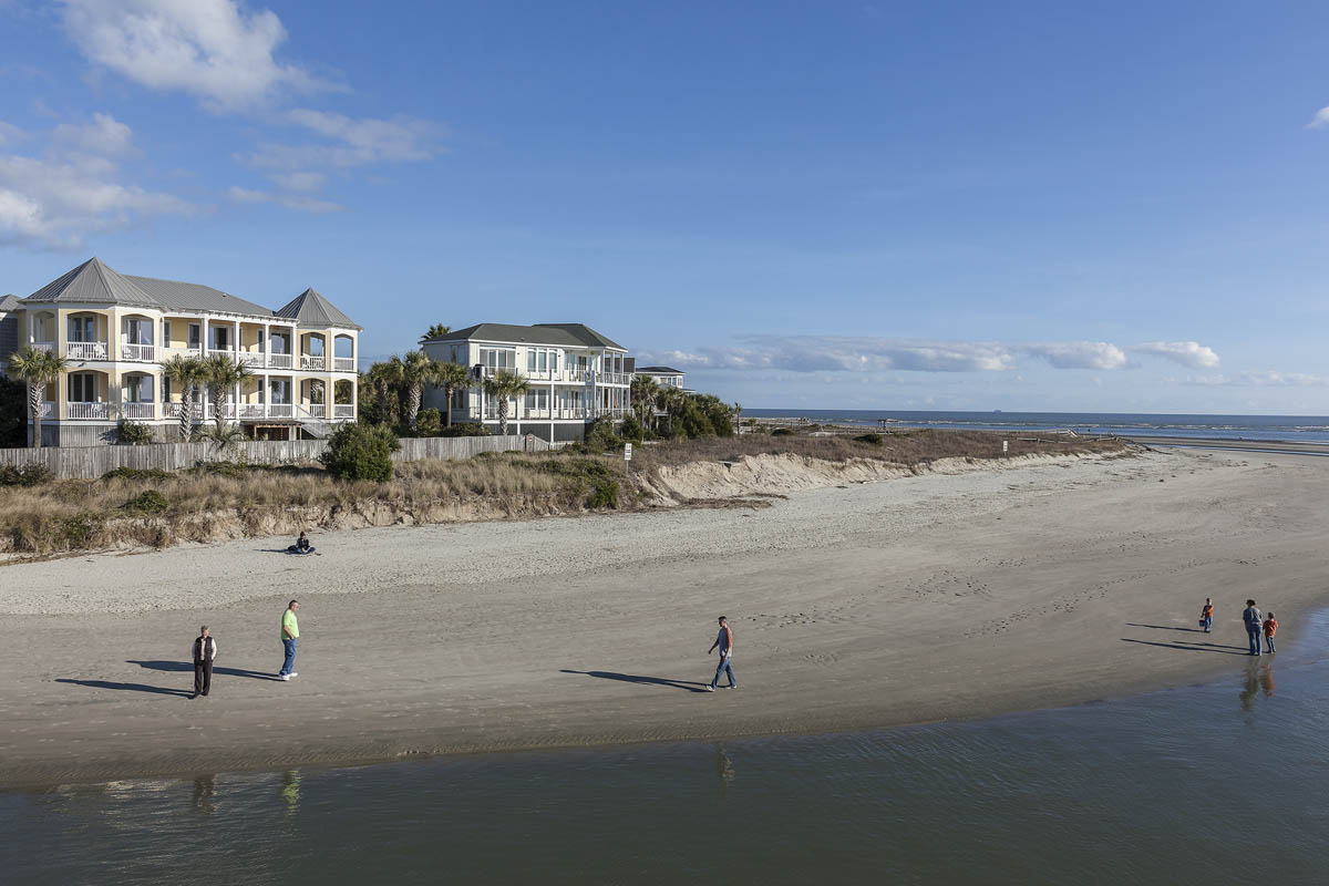 Ocean Boulevard Houses, Breach Inlet, Isle of Palms, South Carolina, 2014.  Elevation Six Feet. N 32.77632 W 79.81101.