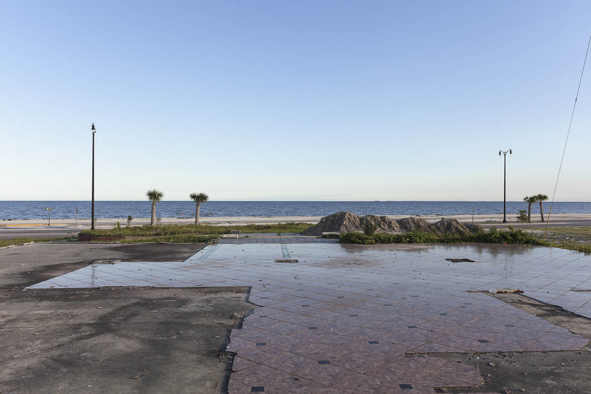 Floor of a Building Destroyed by Hurricane Katrina, Beach Boulevard, Gulfport, Mississippi, 2014.