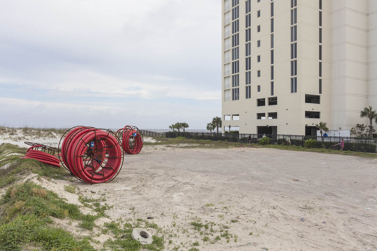 Development on Sites Formerly Destroyed by Hurricane Ivan, Gulf Shores, Alabama, 2014. Elevation Twelve Feet. N 30.24326 W 87.71641.
