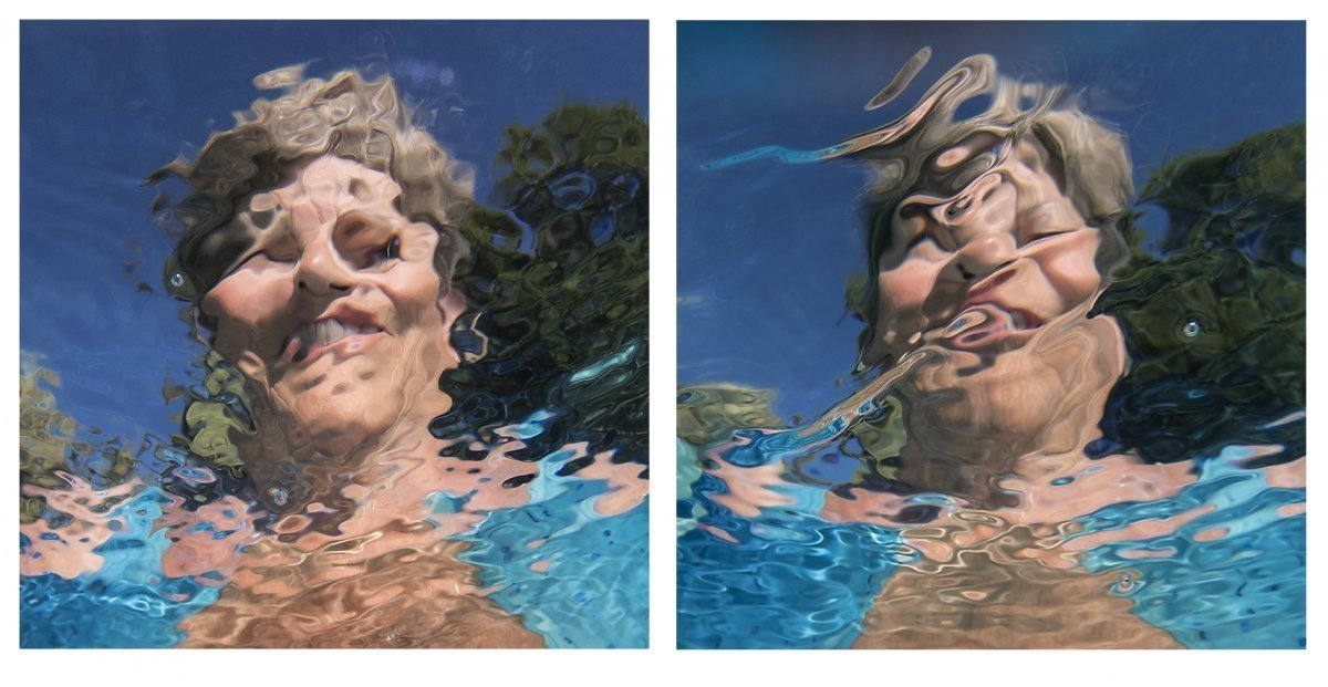Water Portraits Diptych #6 2019.