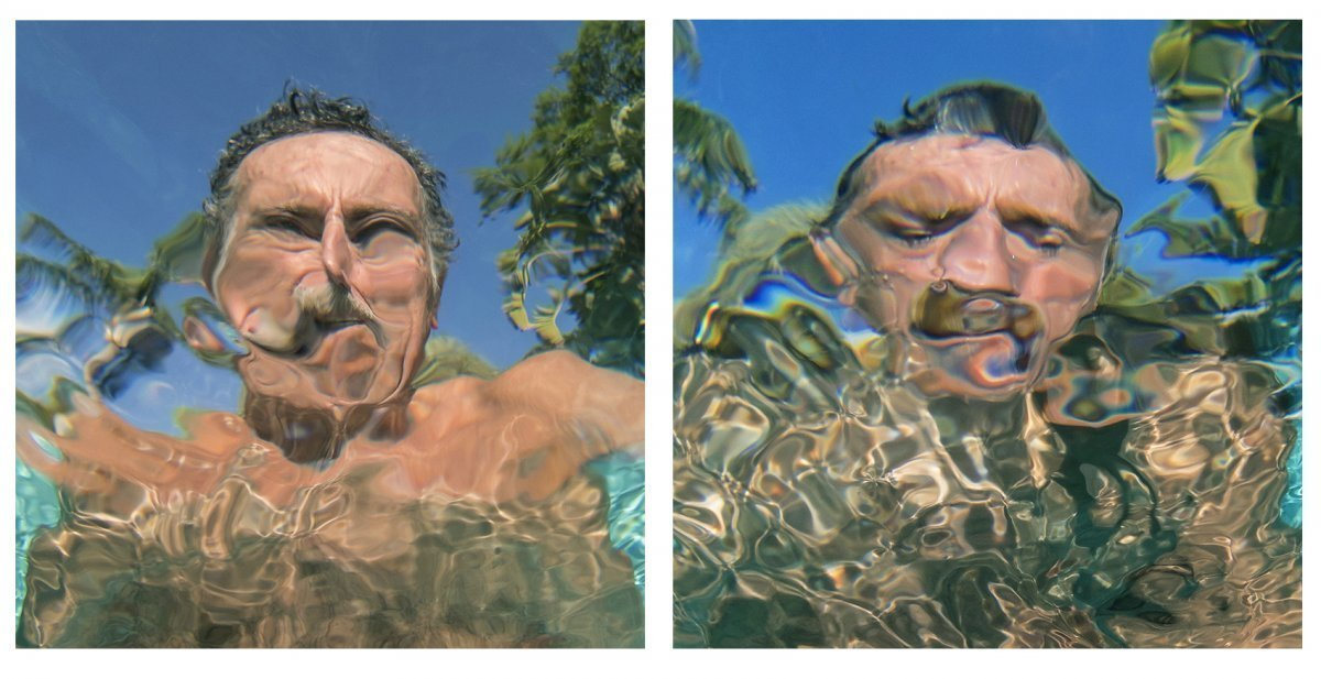 Self-Portraits Diptych #1 2019.