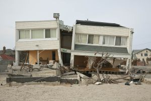 Oceanfront Duplex after Hurricane Sandy B 141St Rockaways NY 2013