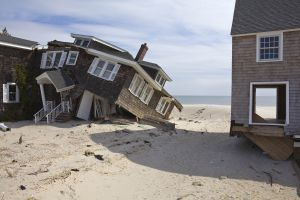 Beach Houses Destroyed by Hurricane Sandy, Ocean Ave, Mantoloking NJ 2013