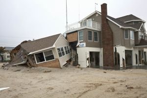 House Collision Joan Rd Long Beach Island New Jersey 2013