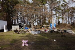 Remains of House Destroyed by Irene, Lowland North Carolina, 2011