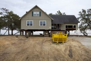 House Damaged by Irene being Repaired and Elevated, Dawson's Creek, North Carolina (El. 2 ft) 2011