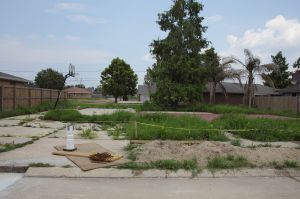 Site of a House Destroyed by Katrina, Blanchard Dr. Chalmette  Louisiana 2010