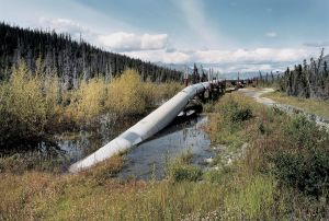 Alaska Pipeline North of Valdez, Alaska, 1990